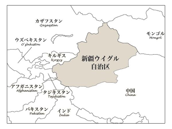 ウイグルの地図